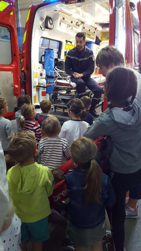 Visite caserne pompiers